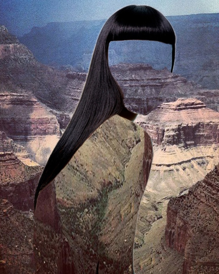 "Erin Case: ""Haircut 8"" Digital collage with Andrew Tamlyn, 2012"