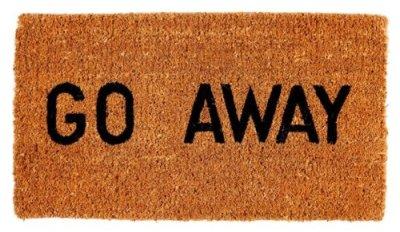 go away mat