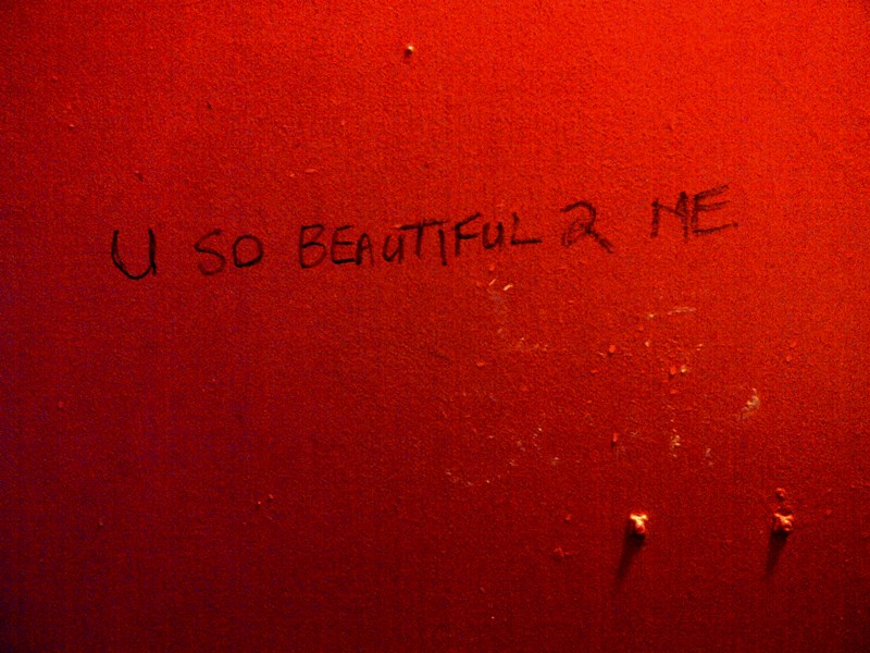 Seen on the back of the toilet door in Tagore's, Observatory, last night, after seeing Sathima Bea Benjamin sing.