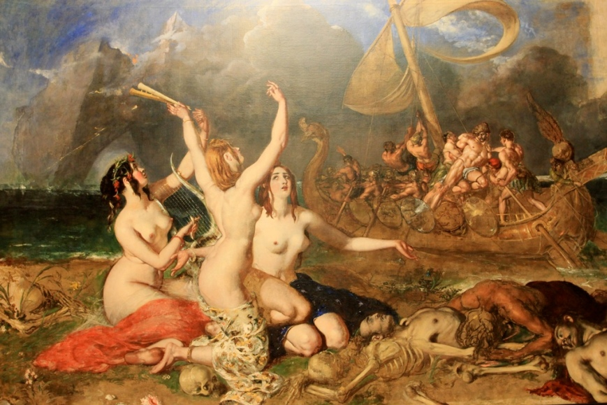 "William Etty - ""The Siren and Ulysses"", 1837."