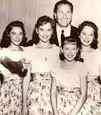 The Lennon sisters with Lawrence Welk c. late 1950s