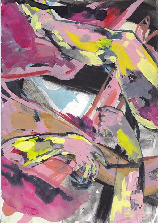 """Such a long way to Cecily Brown."" Lizza Littlewort, 2014."