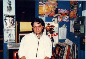 Andrew Wood in the Heaven DJ box