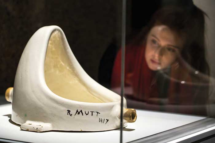 "Should museums re-label the work Fountain as ""a replica, appropriated by Marcel Duchamp (1887-1968), of an original by Baroness Elsa von Freytag-Loringhoven (1874-1927)""? Photo: Felix Clay"