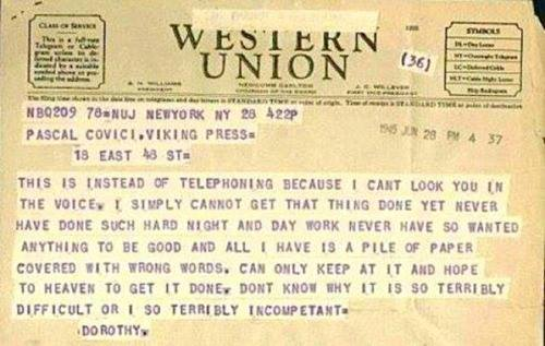 telegram from dorothy