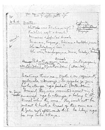 Transcript of Thununu ka Nonjiya, 1903, in James Stuart Archive, vol.6. p.289