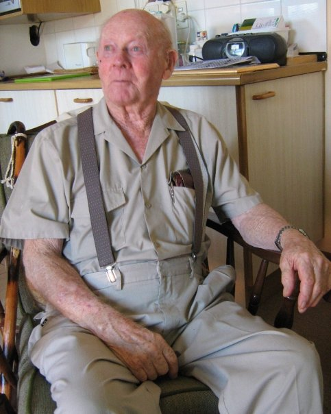 Gramps, posing.