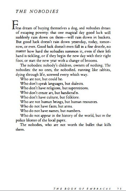 Eduardo Galeano - The Nobodies